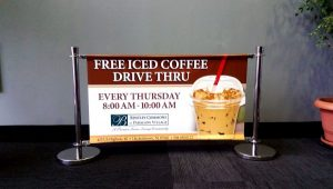 free coffee promotion printed banner