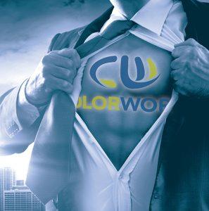 cw logo on superman