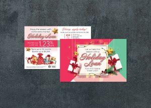 holiday loan promtion postcard