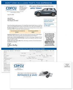 auto loan credit union refinancing campaign
