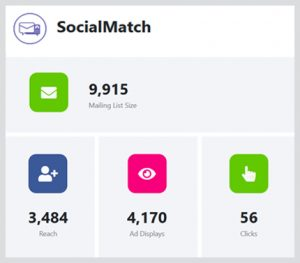 social match reach, clicks and ad display